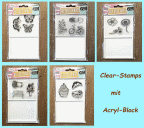 Clear-Stamps mit Acryl-Stempelblock
